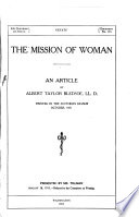 The Mission of Woman