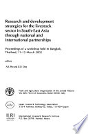Research and Development Strategies for the Livestock Sector in South-East Asia Through National and International Partnerships