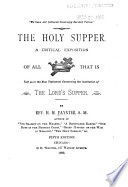 The Holy Supper Book