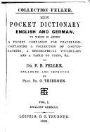 New Pocket Dictionary  English and German
