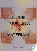 Phase Equilibria In Materials Book PDF