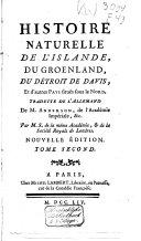 Histoire naturelle de l'Islande, du Groenland, du Détroit de Davis, et d'autres pays situés sous le nord ebook