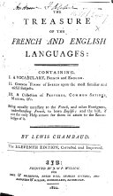 The Treasure of the French and English Languages ... The Eleventh Edition, Corrected and Improved