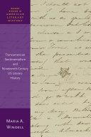 Transamerican Sentimentalism and Nineteenth Century US Literary History