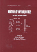 Modern Pharmaceutics  Fourth Edition Revised and Expanded