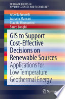 GIS to Support Cost effective Decisions on Renewable Sources Book