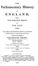 Pdf Cobbett's Parliamentary History of England