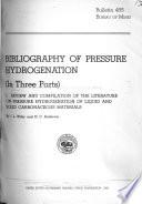 Bibliography of Pressure Hydrogenation Book