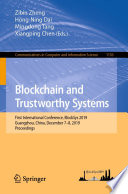 Blockchain And Trustworthy Systems Book PDF