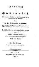 Handbuch der Hydraulik (etc.)