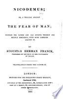 Nicodemus, Or, A Treatise Against the Fear of Man