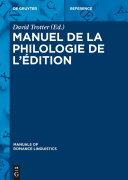 Pdf Manuel de la philologie de l'édition Telecharger