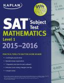 Kaplan SAT Subject Test Mathematics Level 1 2015 2016 Book
