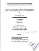 NAEP 1996 Mathematics State Report for Pennsylvania