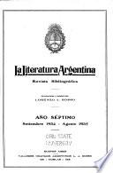La Literatura argentina