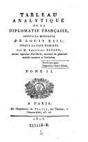 Tableau Analytique de la Diplomatie Francaise