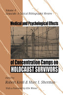 Medical and Psychological Effects of Concentration Camps on Holocaust Survivors Pdf/ePub eBook