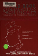 The Red Book Of Eye Ear Nose And Throat Specialists Book PDF