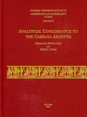 Analytical Concordance to the Gar  ana Archives