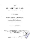 The ability of God  an encouragement to faith