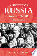 A History of Russia Volume 1 Book