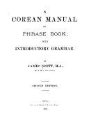 A Corean Manual Or Phrase Book