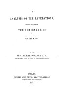 An Analysis of the Revelations, chiefly founded on the Commentaries of J. Mede ebook