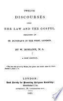 Twelve Discourses Upon The Law And The Gospel A New Edition