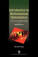 Introduction to Mathematical Optimization