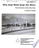 Soil Survey of White Sands Missile Range  New Mexico Book PDF