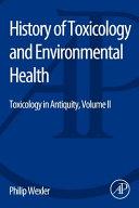 History of Toxicology and Environmental Health