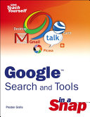 Google Search and Tools in a Snap ebook