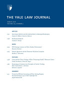 Yale Law Journal  Volume 125  Number 5   March 2016