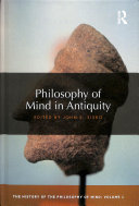 Philosophy of Mind in Antiquity