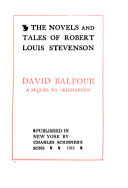 The Novels and Tales of Robert Louis Stevenson Pdf/ePub eBook