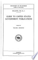Guide to United States Government Publications