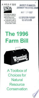 The 1996 Farm Bill