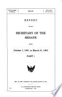 Report of the Secretary of the Senate from ...
