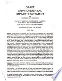 Draft Environmental Impact Statement for Proposed New Dredging
