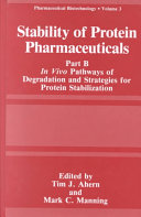 Stability of Protein Pharmaceuticals