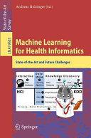Machine Learning for Health Informatics Book