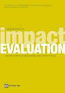 Handbook on Impact Evaluation