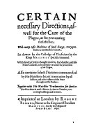 Pdf Certain Directions for the Plague