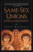 Same Sex Unions in Premodern Europe
