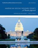American Social Welfare Policy Book PDF