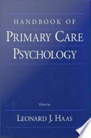 Handbook Of Primary Care Psychology Book PDF