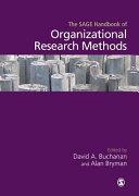The Sage Handbook of Organizational Research Methods