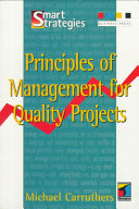 Principles of Management for Quality Projects