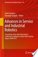 Advances in Service and Industrial Robotics Book