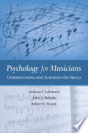 Psychology for Musicians Book